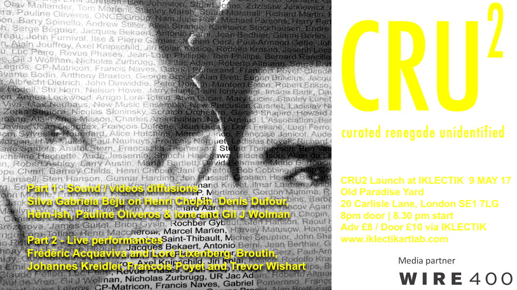 CRU-2 IKLECTIK Launch Flyer